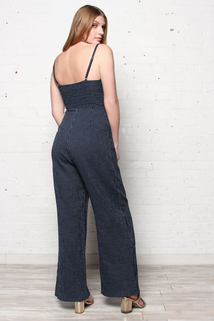 7a598442571a MINKPINK Lover Wide Leg Jumpsuit - Navy – Calico