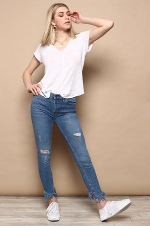 Free People Great Heights Frayed Skinny