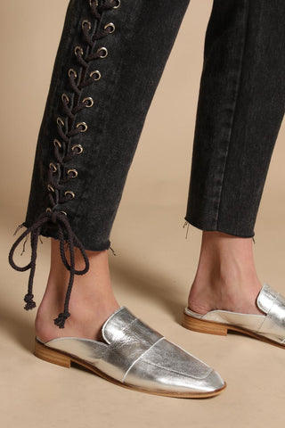 Free People At Ease Loafers - Silver