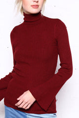 Act Up Ribbed Turtleneck
