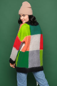 Moon River Colorblock Oversize Sweater