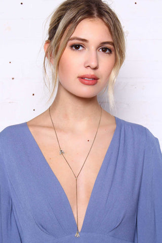 All Eyes On You Necklace - Clear