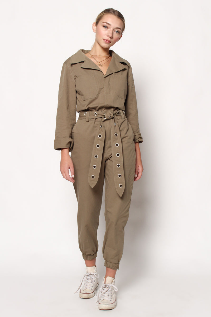 Honey Punch Full Service Coverall Jumpsuit