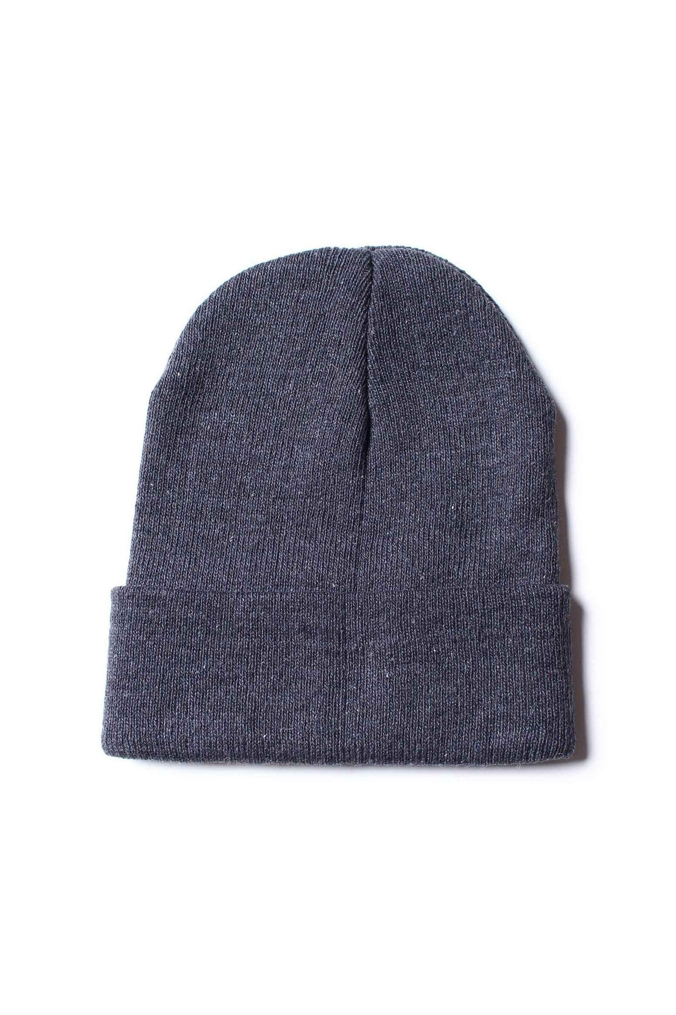 Take Cover Ribbed Beanie - Gray