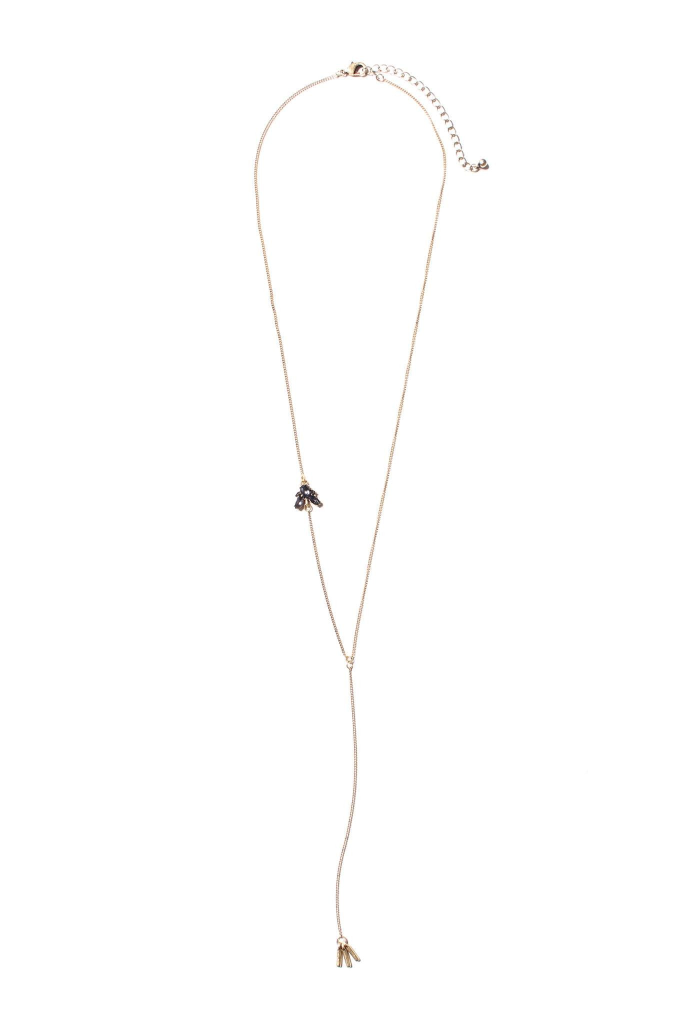 All Eyes On You Necklace - Black