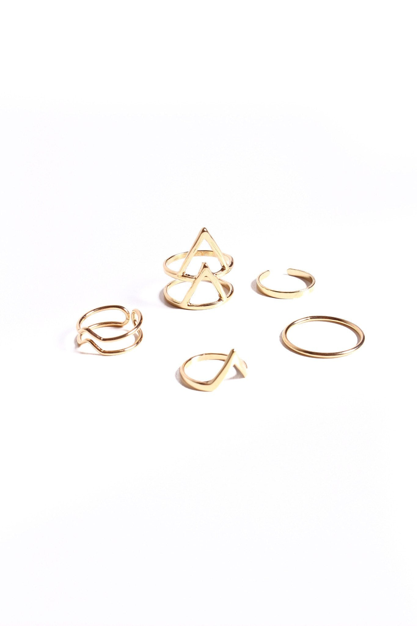 Make A Point Ring Set - Gold
