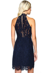 BB Dakota Cara Highneck Lace Dress
