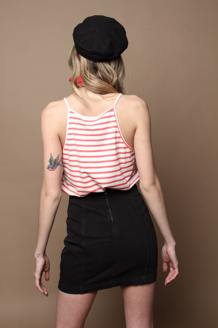 Apricot Ahoy Striped Tank - Red