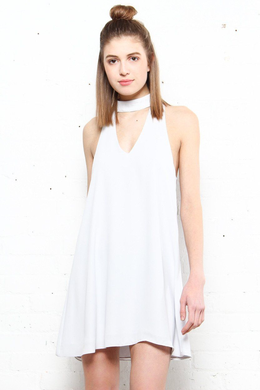 Eva Choker Dress - Silver