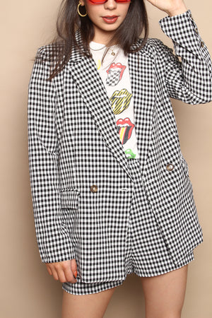 Ema Boxy Gingham Jacket