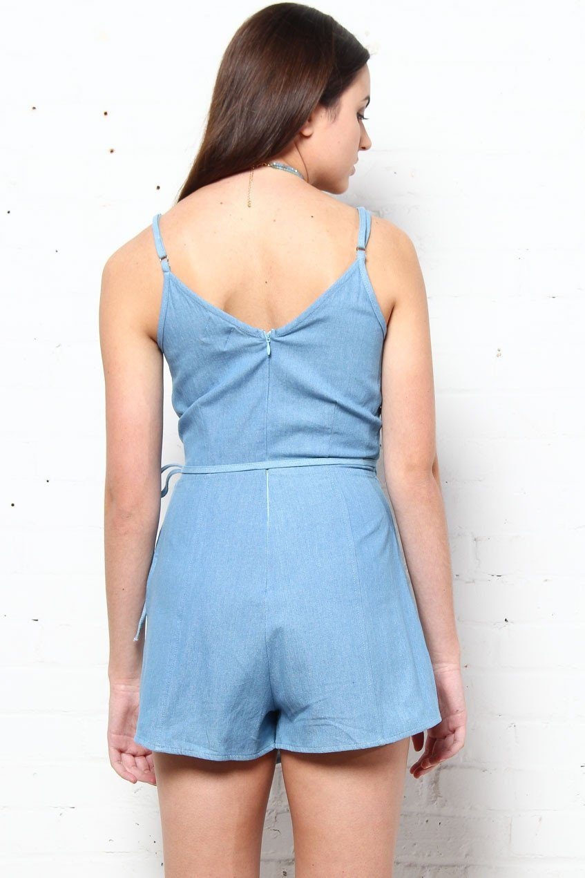 MINKPINK Boundary Wrap Playsuit