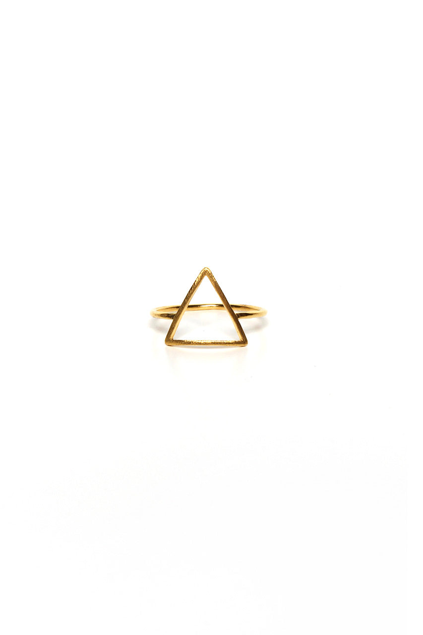 Cutout Triangle Ring - Gold