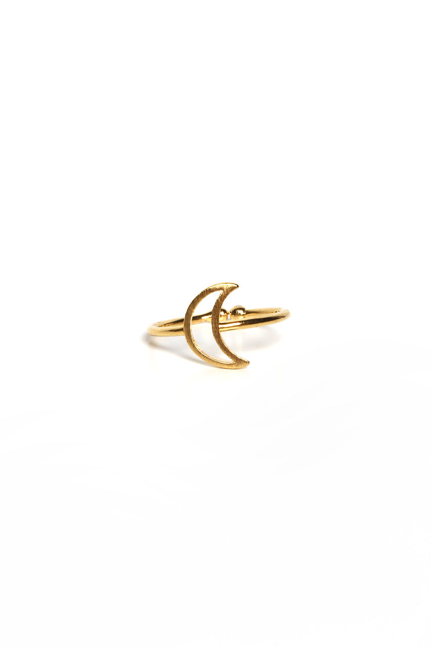 Delicate Moon Ring - Gold