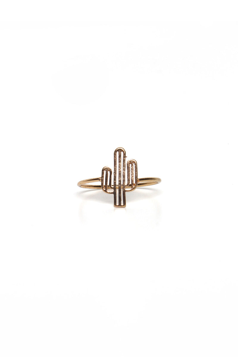 Dainty Cactus Ring - Gold