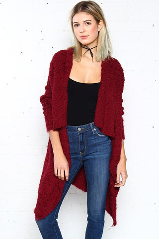 Cold Snap Cardigan - Burgundy