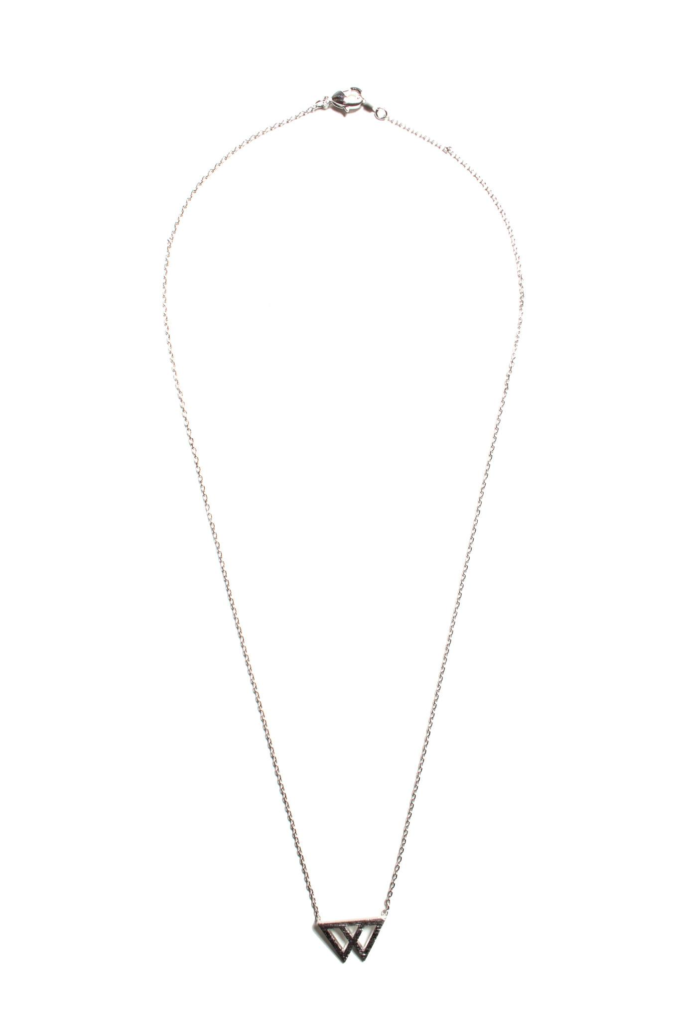 Linked Triangle Necklace - Silver