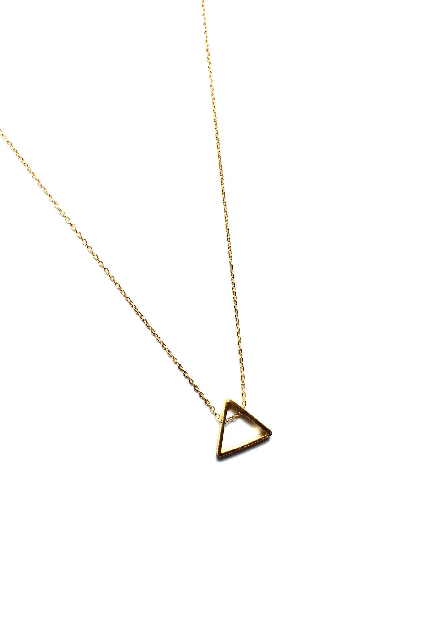 Simple Triangle Necklace - Gold