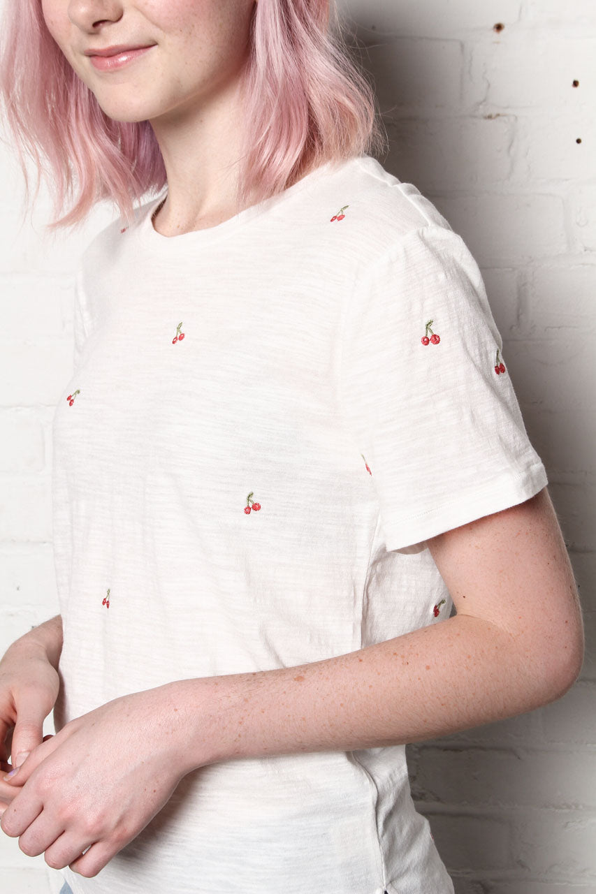 Cherry Embroidered Tee Shirt