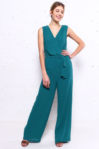 Skip A Beat Sleeveless Jumpsuit