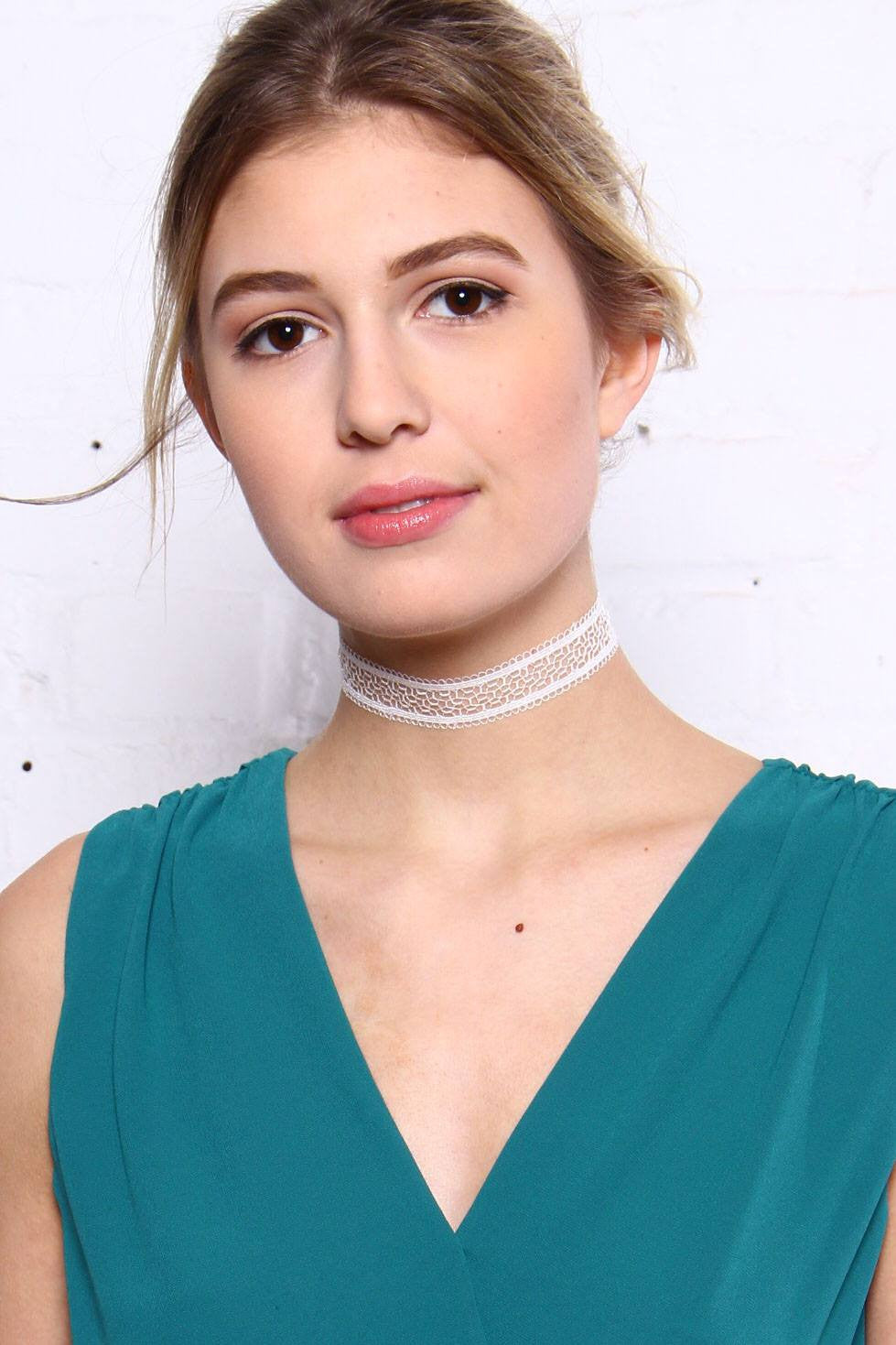 Better Together Choker Set - White