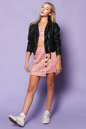 Clueless Plaid Coord Set