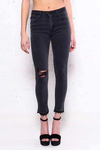 Undercut High Rise Skinny - Charcoal