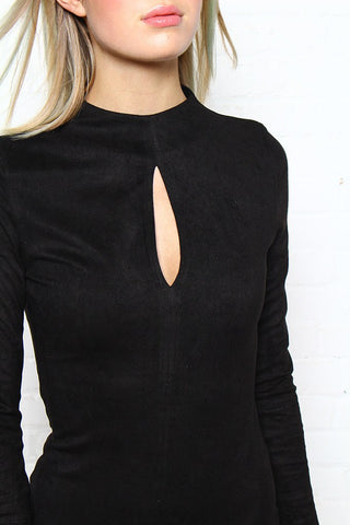 MINKPINK Feel Again Suede Bodysuit