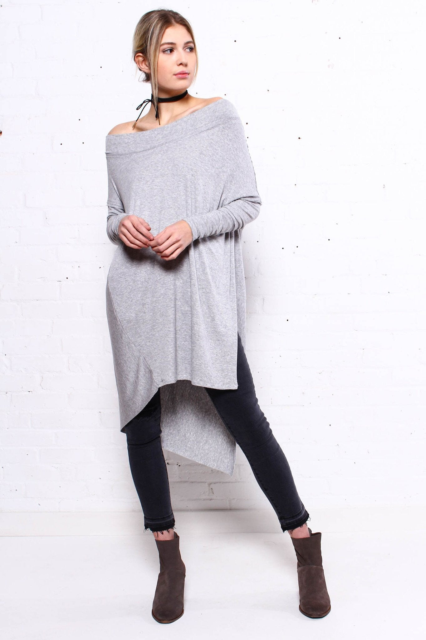 Free People Grapevine Tunic - Gray