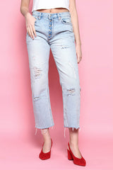 Free People Rolling On The River Crop Jeans