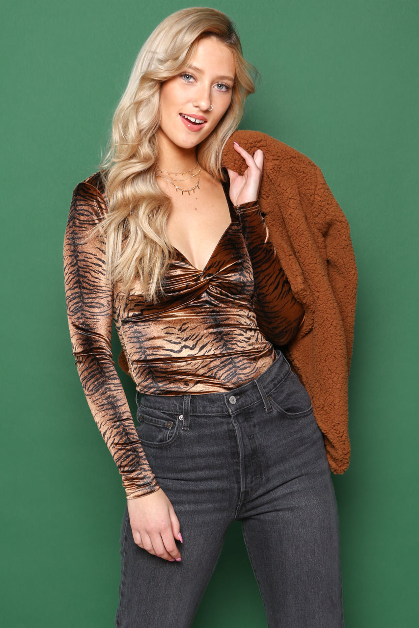 MINKPINK Tiger Twist Top