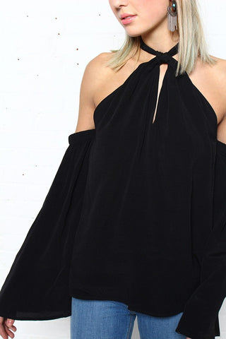 MINKPINK High Roller Cold Shoulder Top