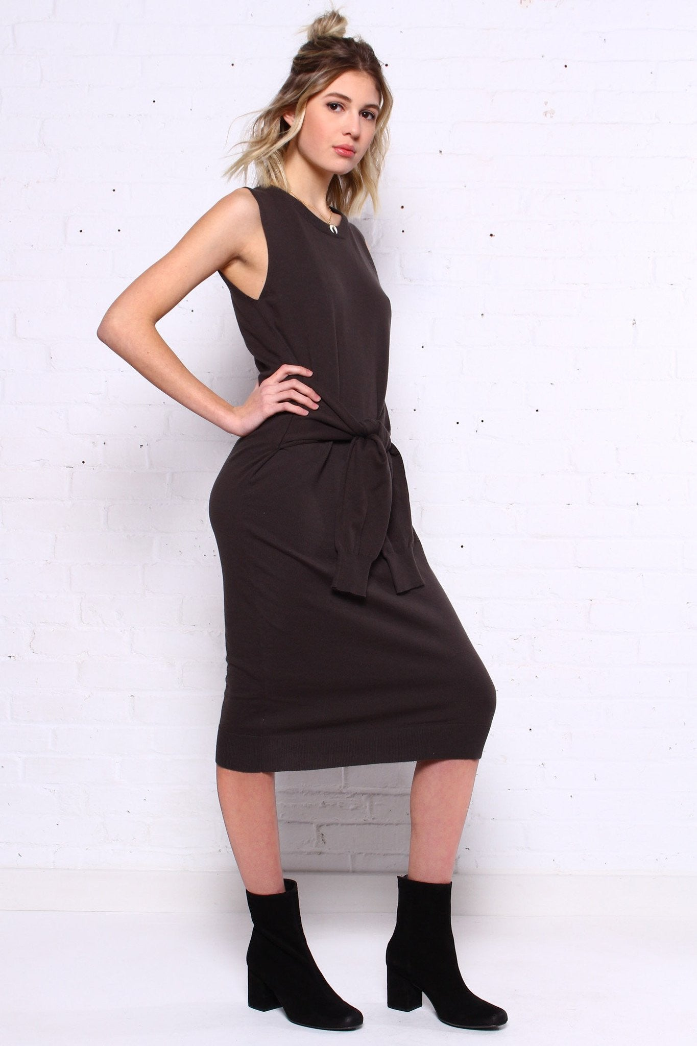 Up In Arms Waist Tie Dress