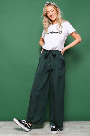 Moon River Wideleg Pleat Pant
