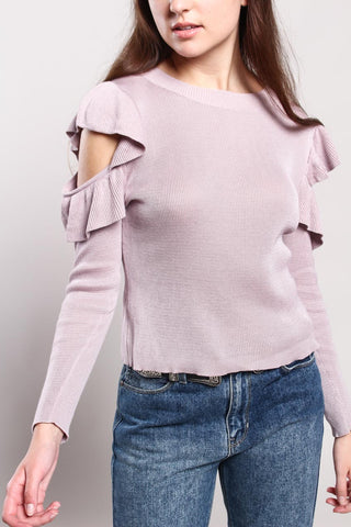 Carissa Cold Shoulder Sweater
