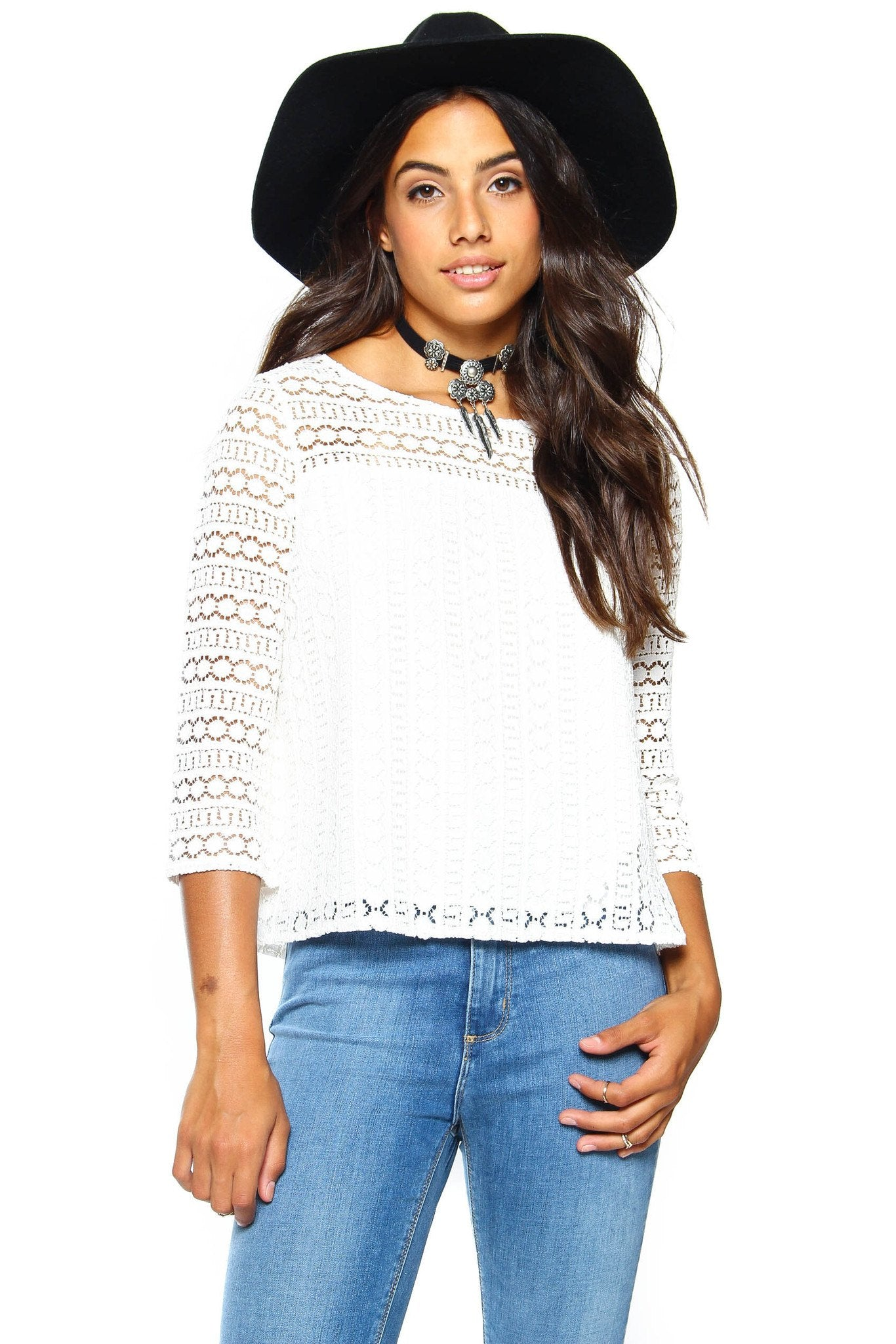 BB Dakota Cuthbert Lace Top