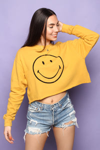 Daydreamer Smiley Cropped Sweatshirt
