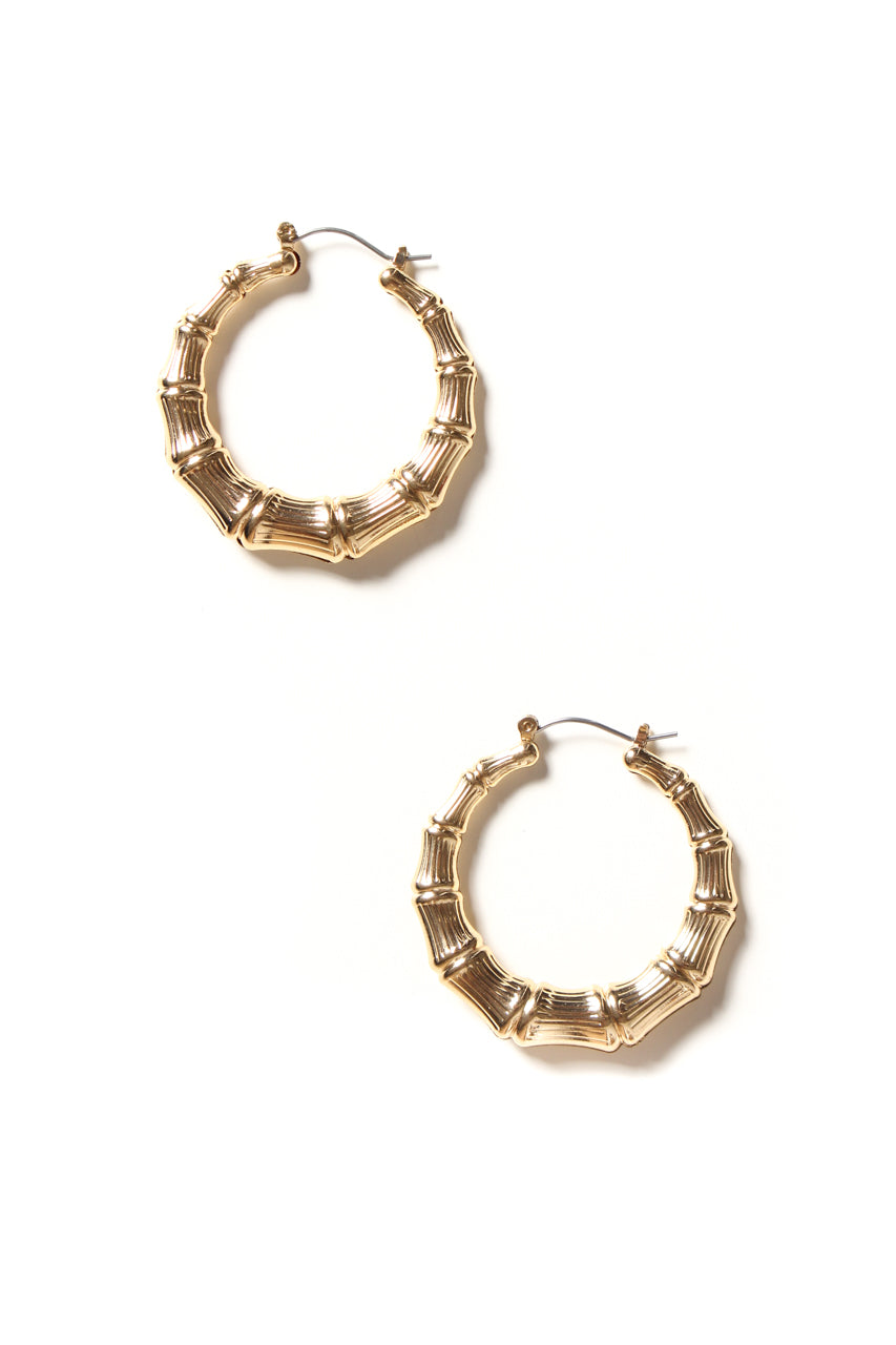 Essential Bamboo Hoops - Gold