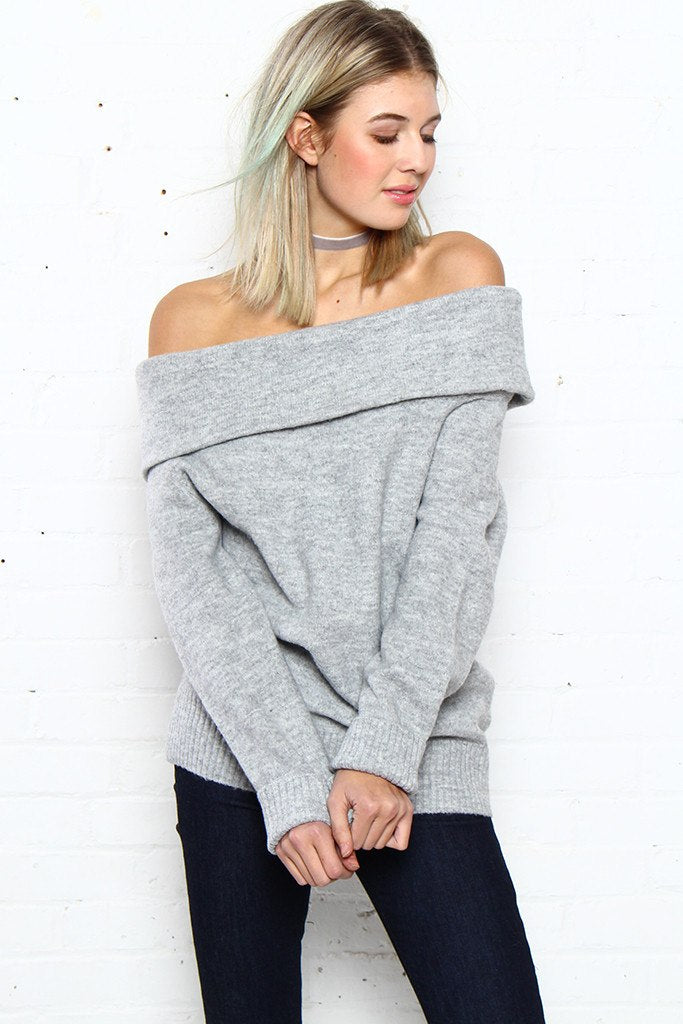 MINKPINK Sunday Off The Shoulder Knit