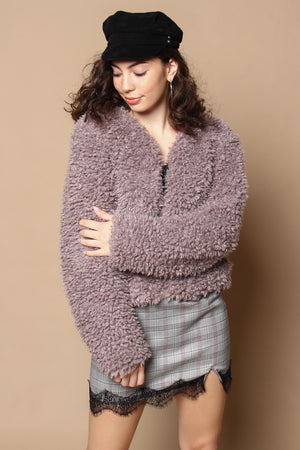 Somedays Lovin' Unspoken Faux Fur Jacket - Lilac