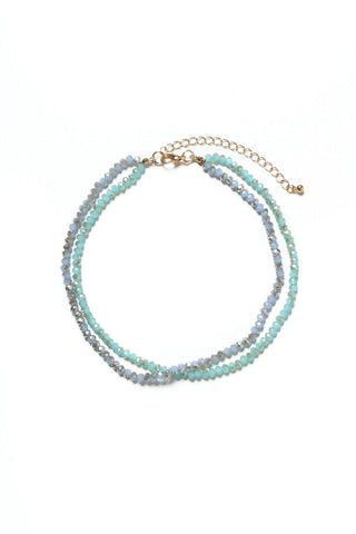 Beaded Blues Choker