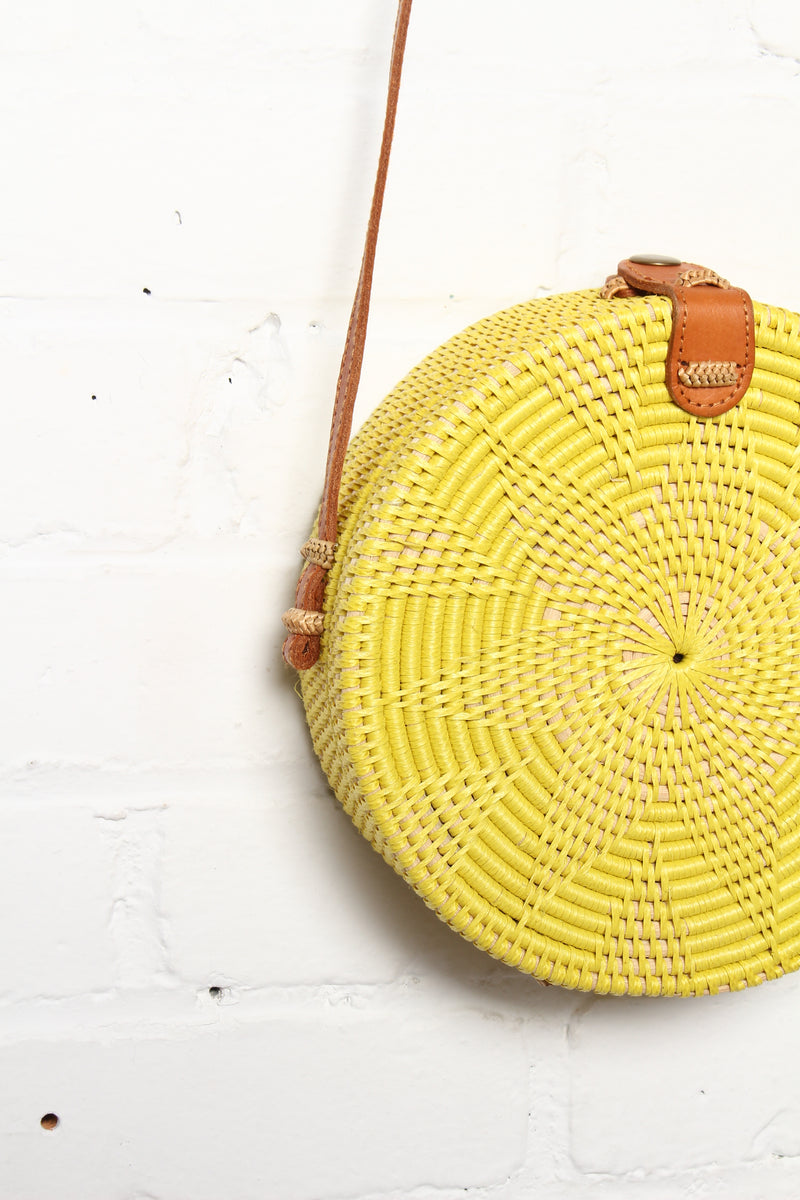 One More Time Around Woven Circle Bag
