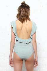 Free People Uh Huh Bodysuit - Sugar Blue