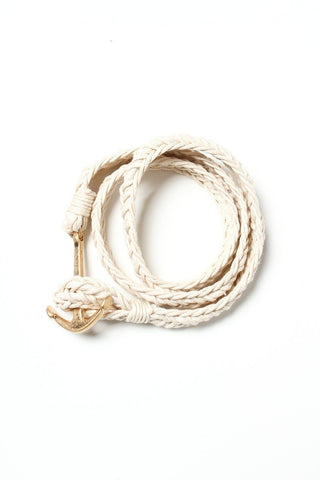 Braided Anchor Bracelet - Ivory