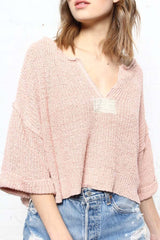 Free People Daybreak Cropped Sweater