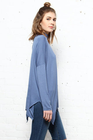 On The Move Choker Top - Blue