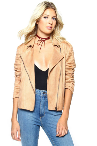 MINKPINK Now Or Never Suede Jacket