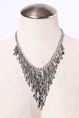 Delaney Bib Necklace - Silver
