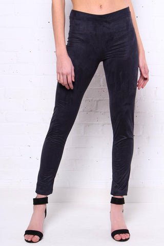 Up The Ante Suede Leggings - Black
