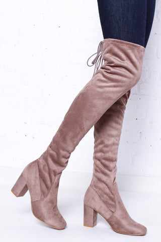 Chinese Laundry Kiara Over The Knee Boot - Taupe