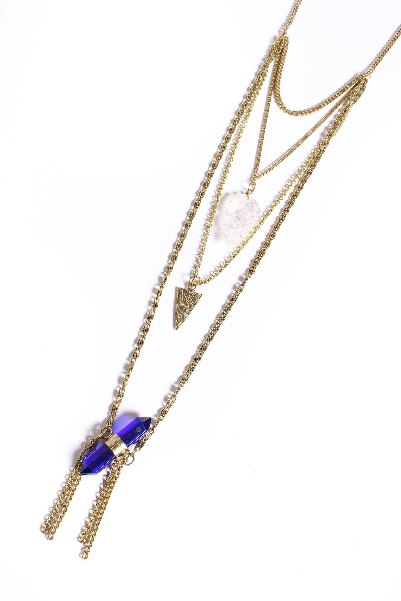Set In Stone Crystal Necklace